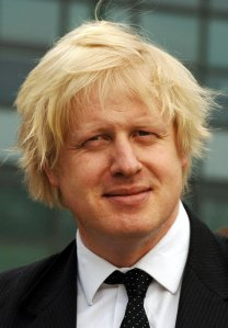 Boris, outside a barber's yesterday
