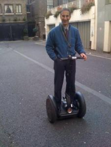 Isidore on his Segway